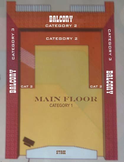 Floor Plan for Hoop Dee Doo Musical Review