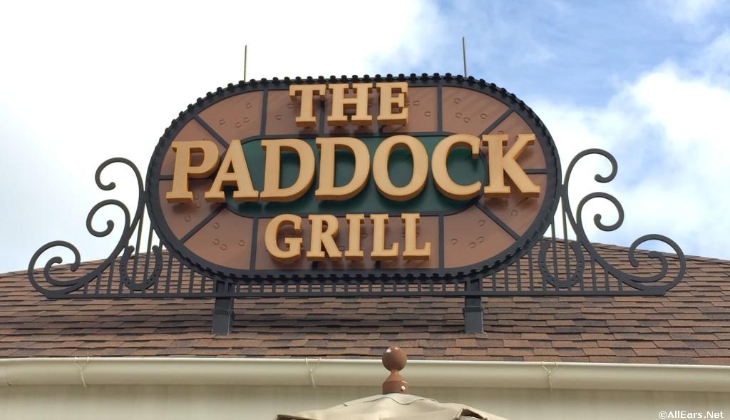 Paddock Grill Signage