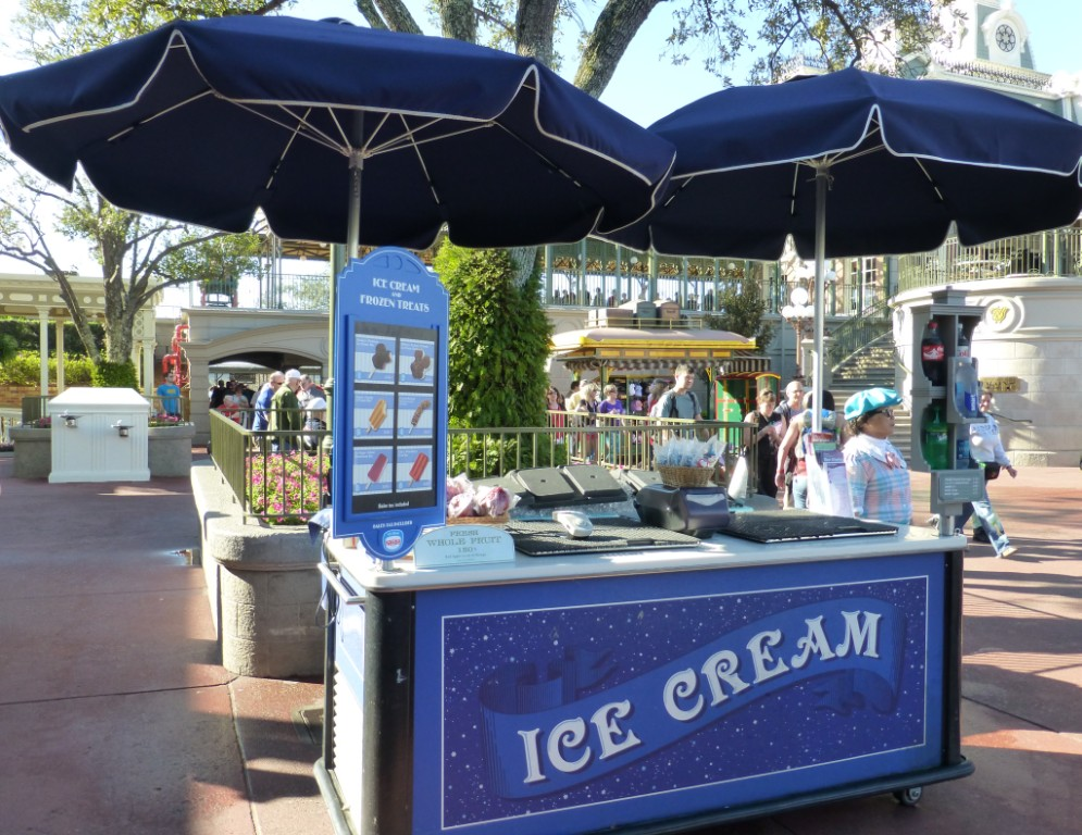 Magic Kingdom Ice Cream Treat Cart