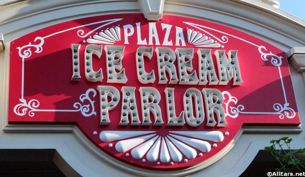 Plaza Ice Cream Plaza Sign