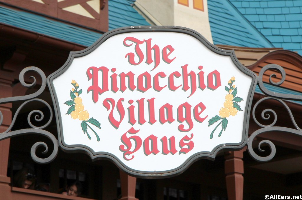 Pinocchio Village Haus Sign
