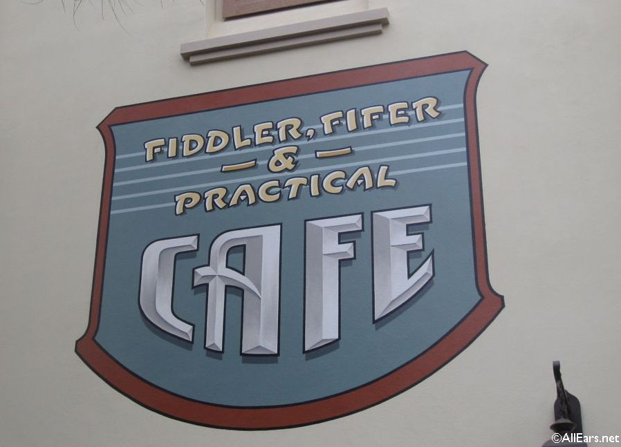 Fiddler, Fifer and Practical Cafe Signage