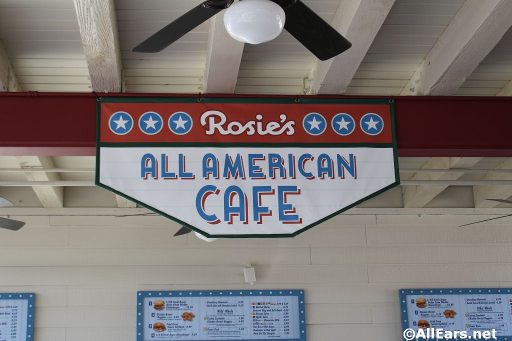 Rosie's All-American Cafe Signage