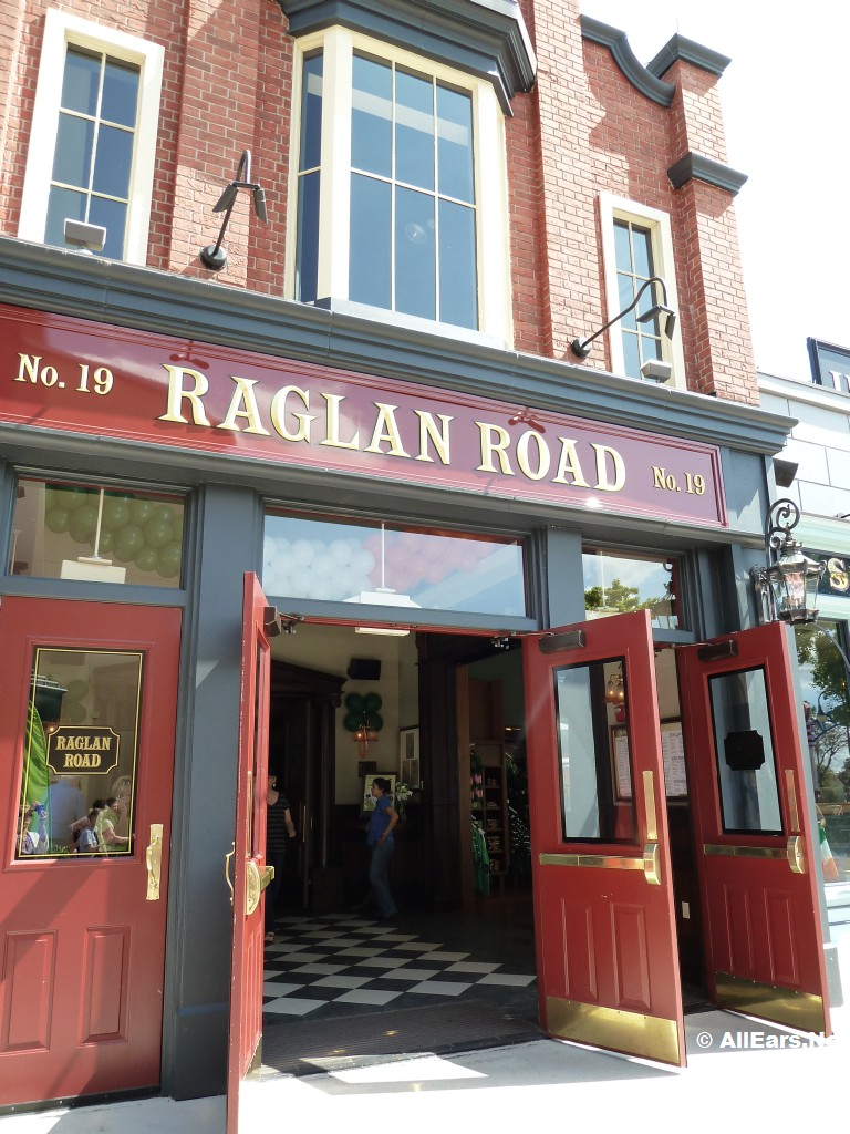 Raglan Road Irish Pub Front Door