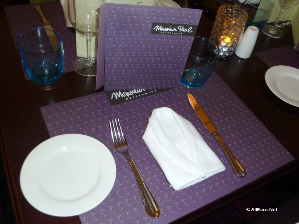 Monsieur Paul Table Setting