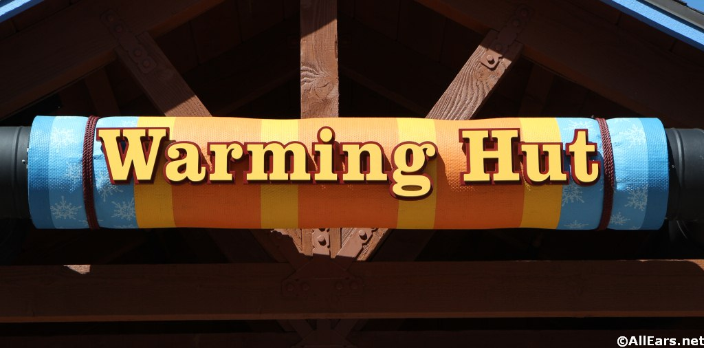 Warming Hut Sign