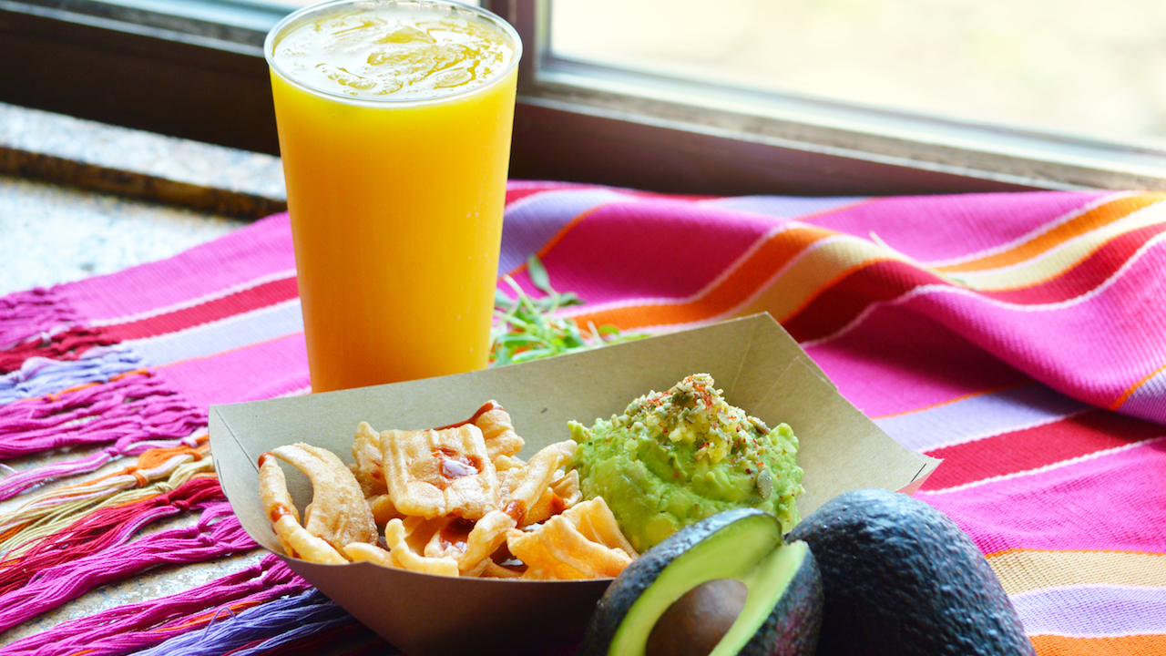 Guacamole and Passion Mango Margarita