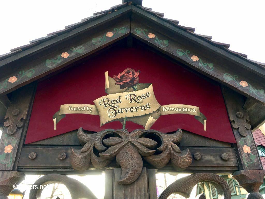 Red Rose Taverne Sign