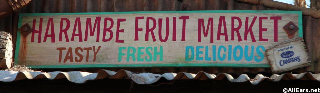 Harambe Fruit Market Signage