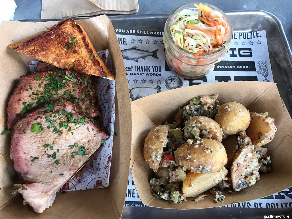 Pork Shoulder Entree w/Texas Toast, Slaw and Choice of Side (Potato Salad shown)
