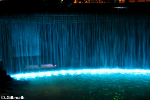 Waterfall Area at night 3