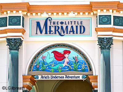 The Little Mermaid sign