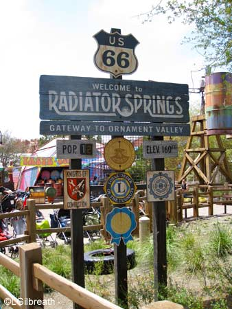 Radiator Springs sign