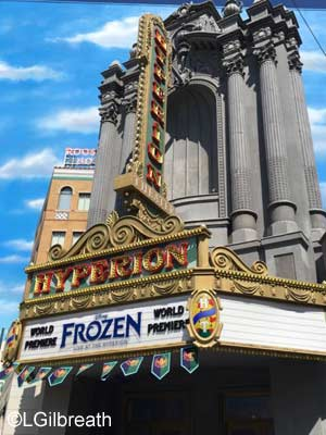 Frozen Live at the Hyperion sign