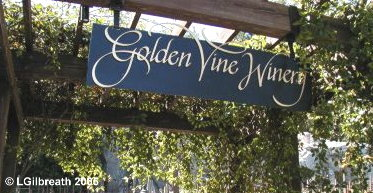 Golden Vine Winery Sign