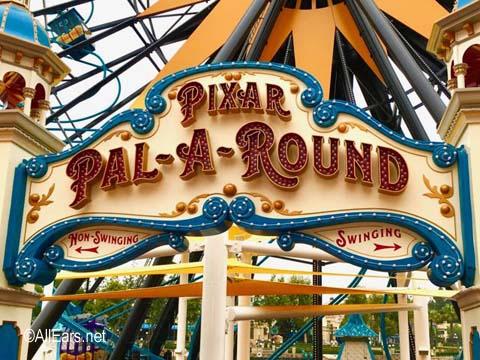 Pixar Pal-A-Round    Pixar Pier  Disney California Adventure Pixar-Pal-A-Round