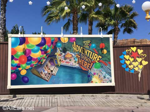 Pixar Pier billboards