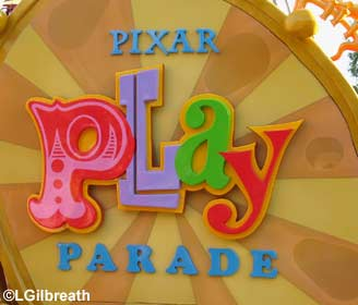 Pixar Play Parade sign