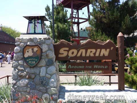 Soarin' Around the  World    Grizzly Peak Airfield  Disney California Adventure Soarin' Around the World Sign