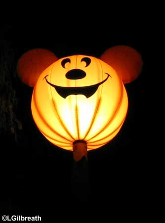 Mickey pumpkin light