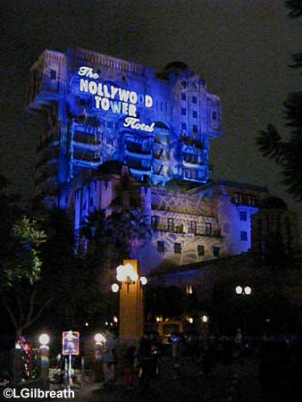 spider web on Tower of Terror