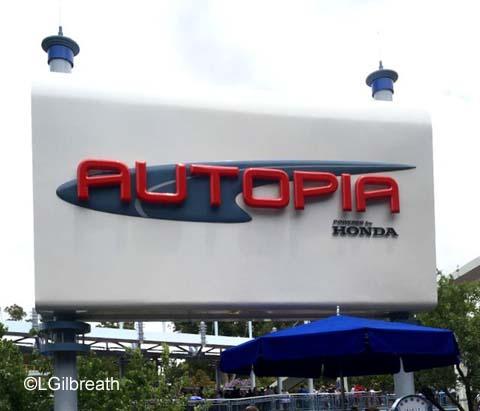 Tomorrowland Autopia Tomorrowland Disneyland Autopia sign