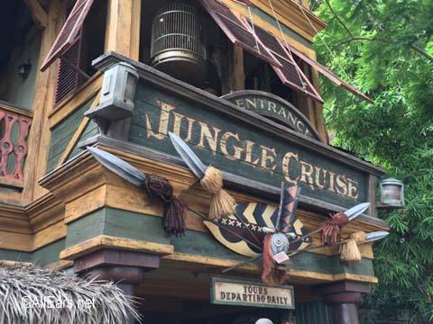 Jungle Cruise  Adventureland  Disneyland Jungle Cruise Entrance
