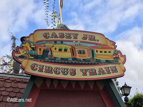 Casey Jr. Circus Train   Fantasyland Disneyland Casey Jr. Train