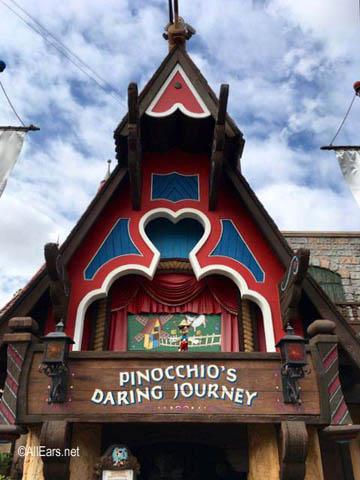 Pinocchio's Daring Journey  Fantasyland Disneyland Pinocchio's Daring Journey Exterior