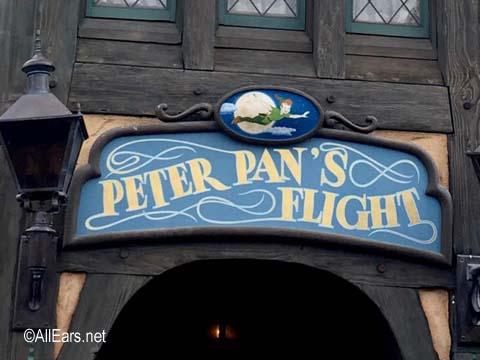 Peter Pan's Flight  Fantasyland Disneyland Peter Pan's Flight sign