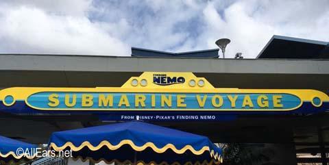 Finding Nemo Submarine Voyage   Tomorrowland Disneyland Nemo sign