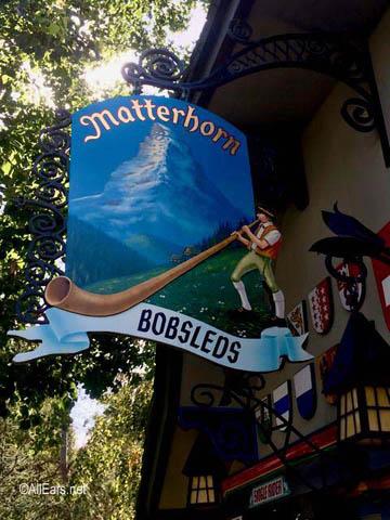 Matterhorn Bobsleds   Fantasyland Disneyland Matterhorn Bobsleds entrance