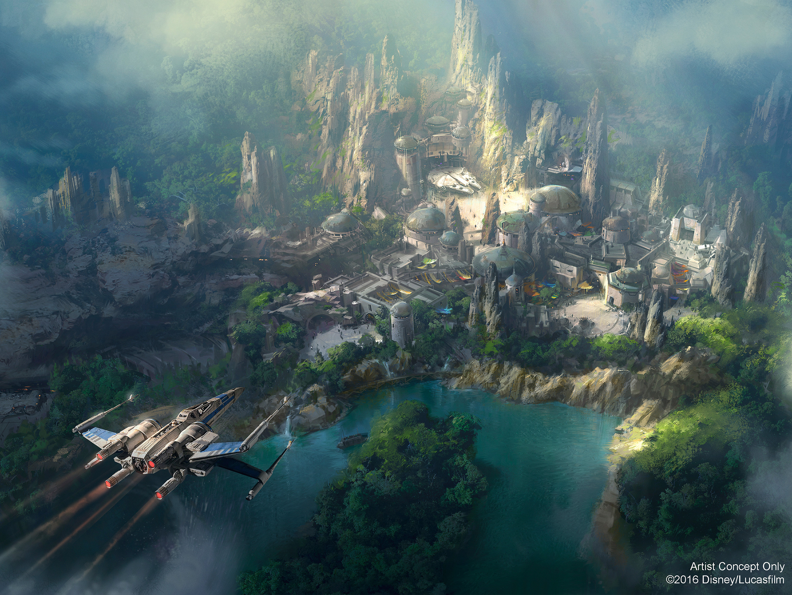 Star Wars Land concept art