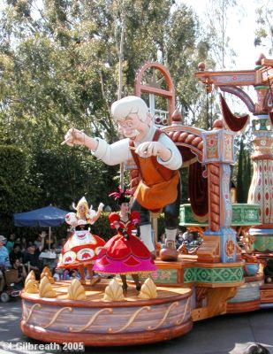 Pinocchio Float with Geppetto