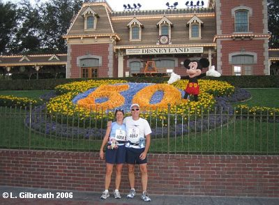 Laura and Lee at the Disneyland Half-Marathon