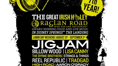 'Great Irish Hooley' Returns Labor Day Weekend to Raglan Road