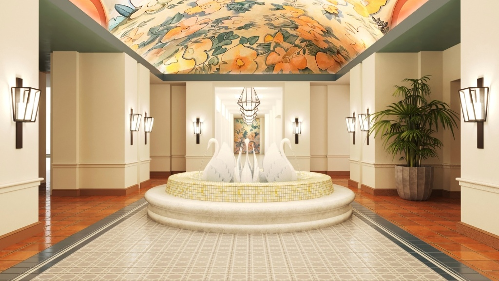 New Look Coming to Walt Disney World Swan Lobby Spaces