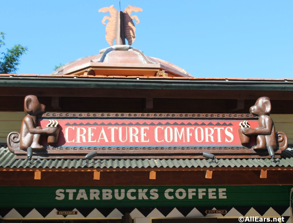 Creature Comforts Starbucks Open in Animal Kingdom