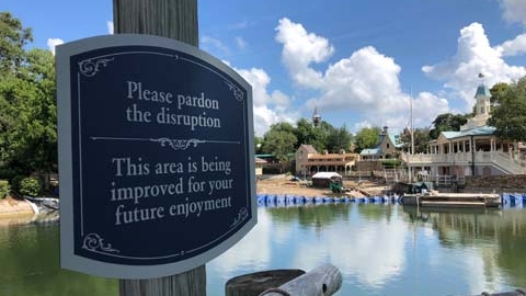 Construction Update: Rivers of America