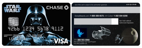 Chase Visa Available in Star Wars Designs