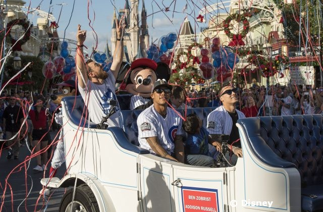 Chicago Cubs Victory Celebrated in Magic Kingdom Parade