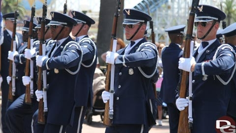 PHOTO UPDATE from Disneyland, Featuring USAF Honor Guard