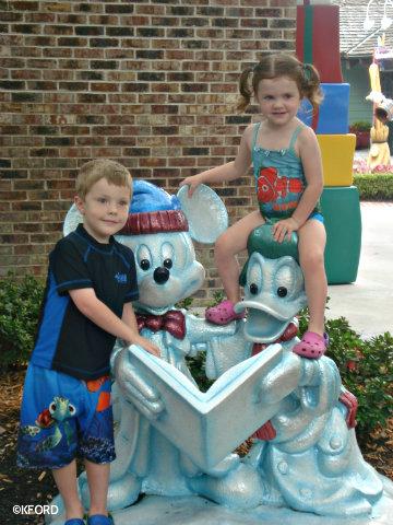 Disney Springs Marketplace Celebrating Christmas in July