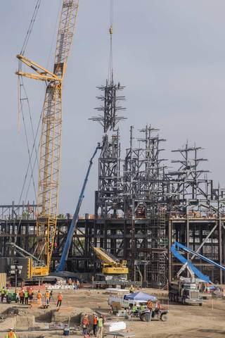 Disneyland's Construction Teams Install Highest Beam
