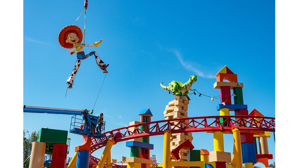 Jessie and Rex Installed in Toy Story Land