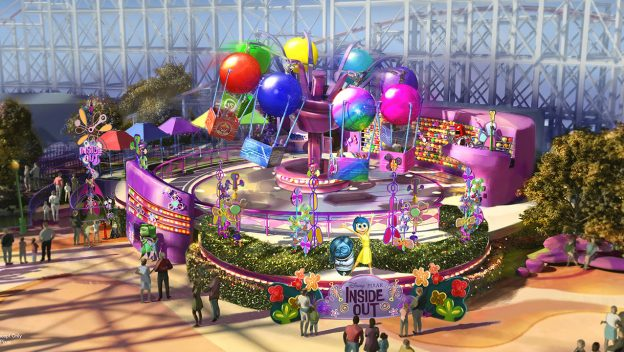 Inside Out Emotional Whirl Coming to Pixar Pier in 2019