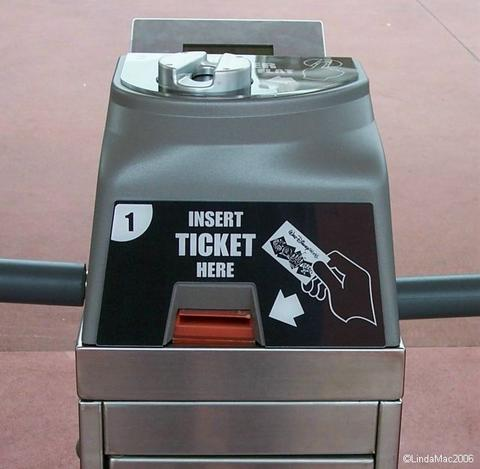 Ticket Tag Turnstile
