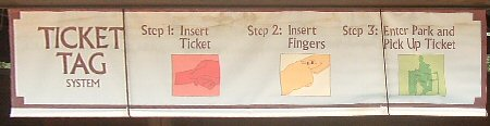 Ticket Tag Sign