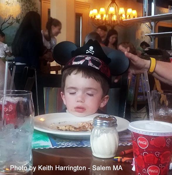 Kid Asleep in his Dinner