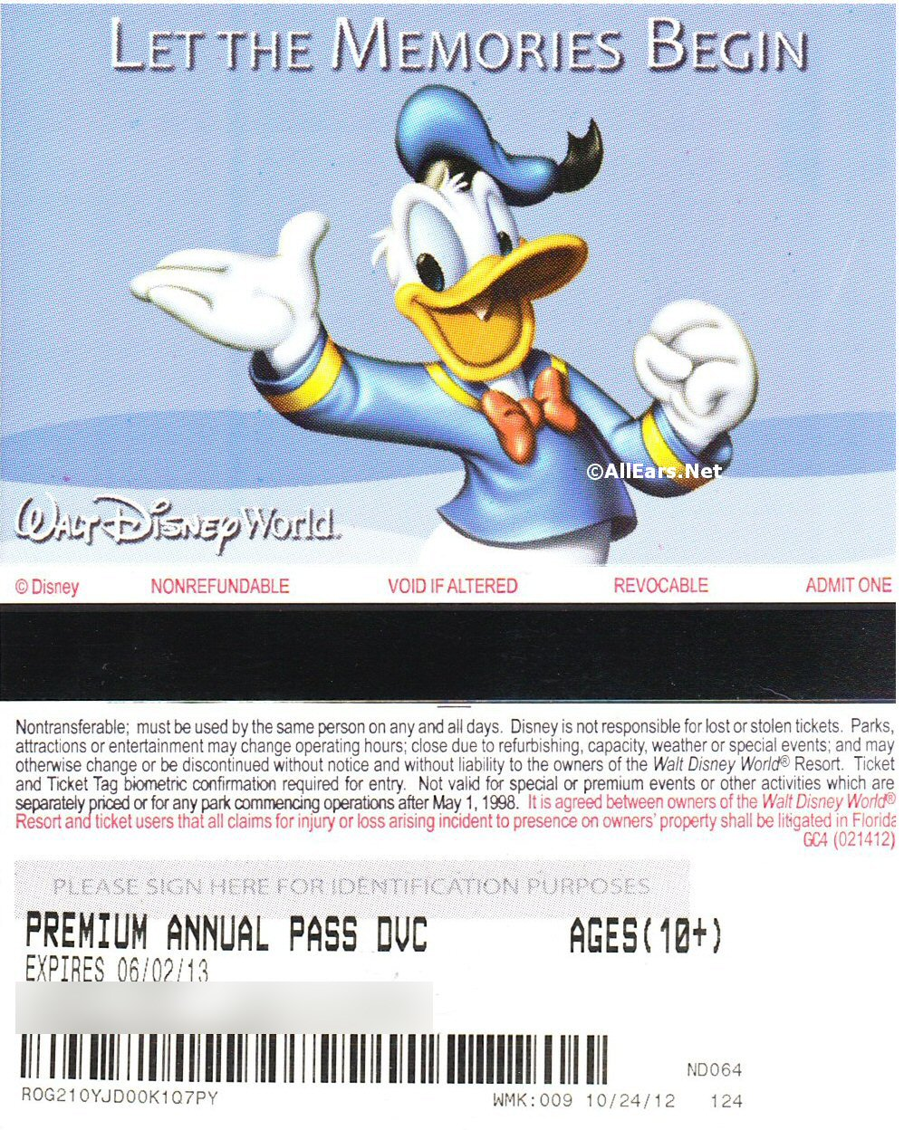 2010's Walt Disney World Tickets - AllEars Net